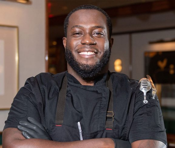 Chef Adrian Forte smiling