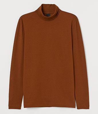 H&M Men's Slim-Fit Turtleneck Shirt