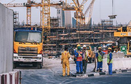 Folk på byggeplass