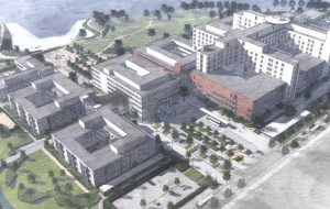 Nytt sykehus: Det nye sykehuset skal ligge på Brakerøya i Drammen.