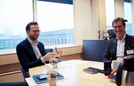 Digitaliseringsminister Nikolai Astrup og styreleder i DigitalNorway Walter Qvam