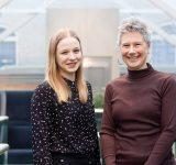 Aleksandra Zietara og Sissel Aune Rø i Geodata
