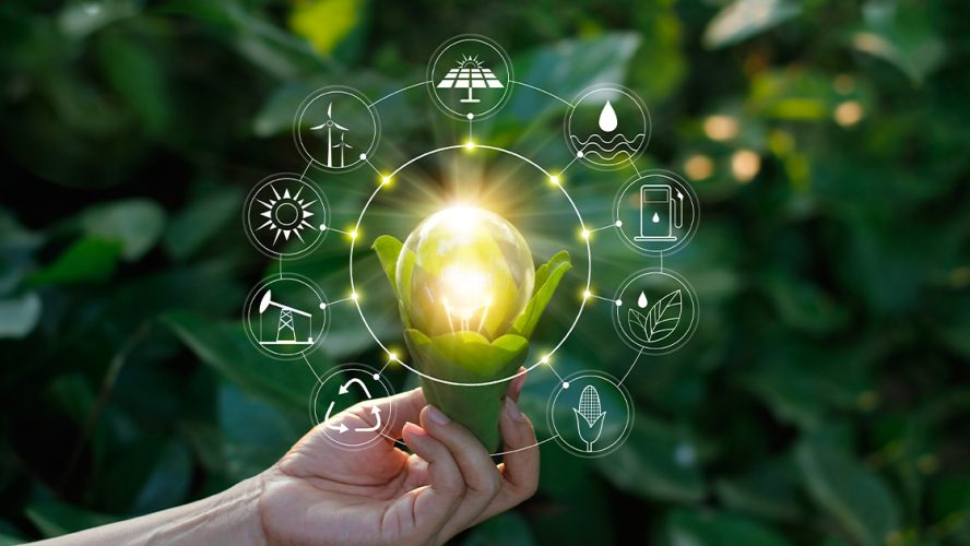 Illustrasjon av grønn industri