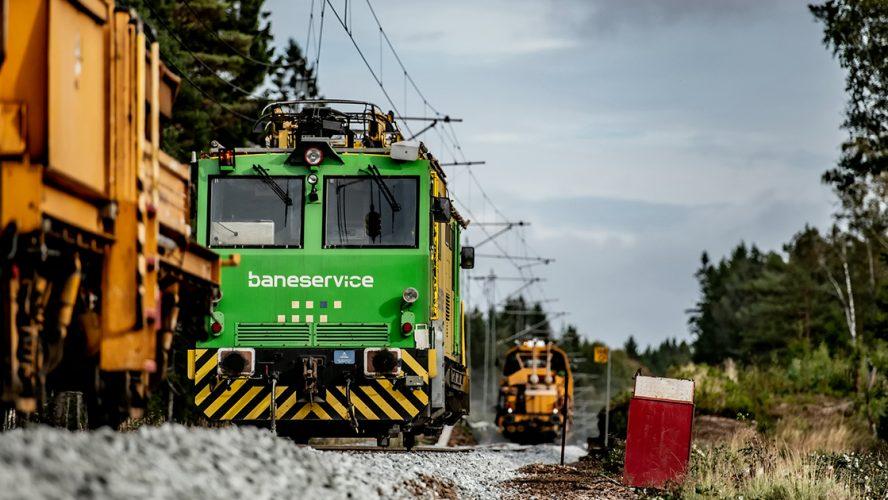 Arbeid på jernbanelinje