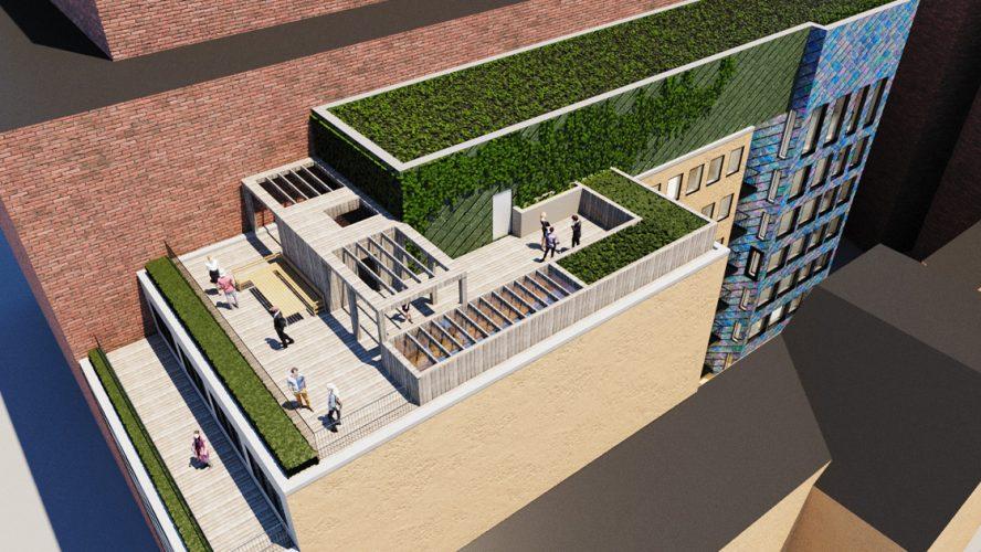 illustrasjon av et sirkulært byggeprosjekt