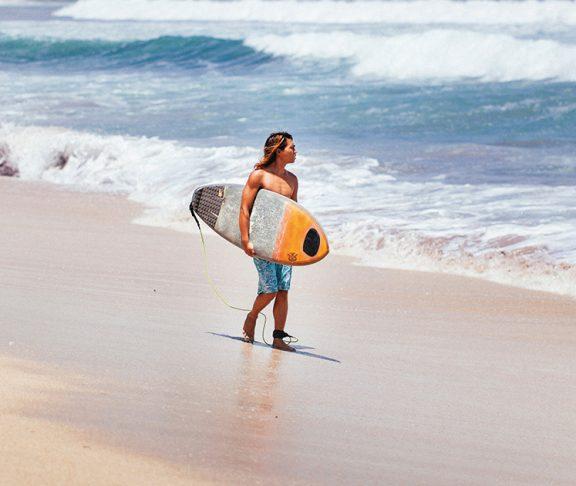 Surfer on Kuta Beach