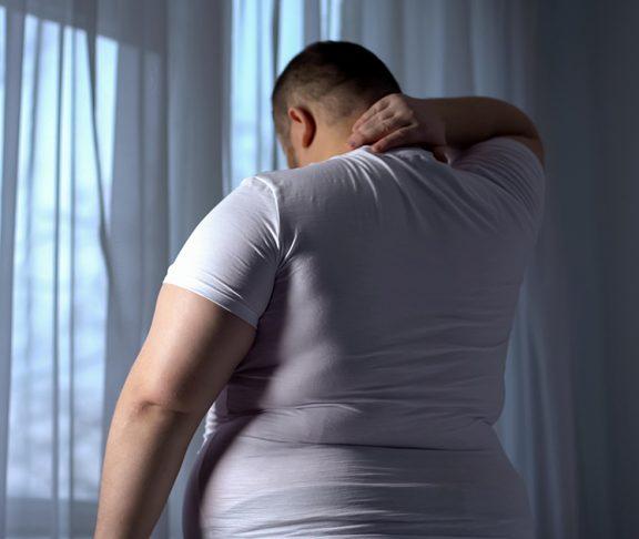 Overvektig mann