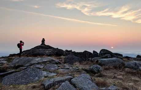 Dalsnuten i solnedgang