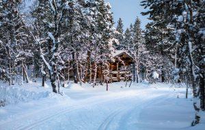 Hytte ved skispor