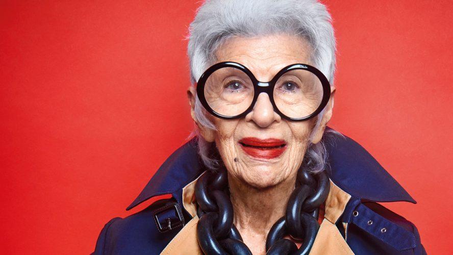 iris apfel, stilikone, brille