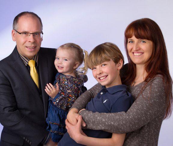 Jutta Wimmer und Thomas Neumann mit Kindern Annika und Niklas