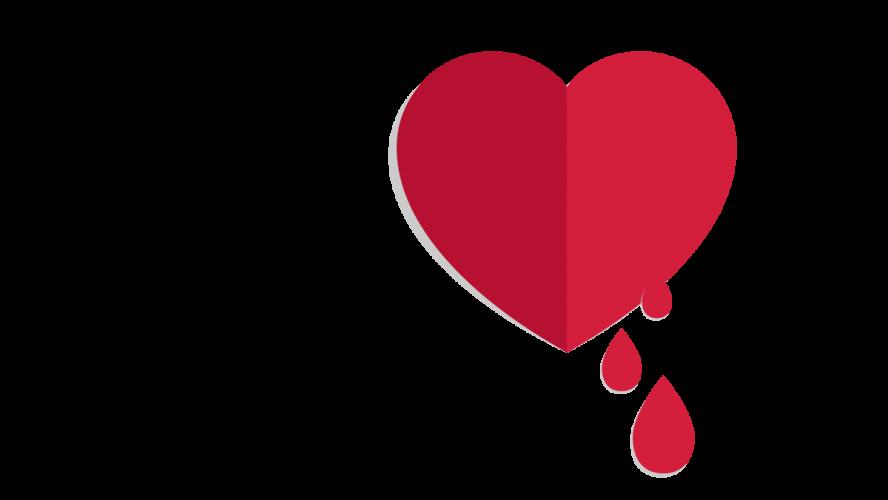 rot blutendes Herz