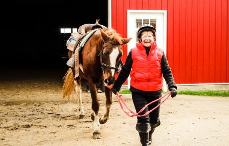 active horse riding old hip replacement happy