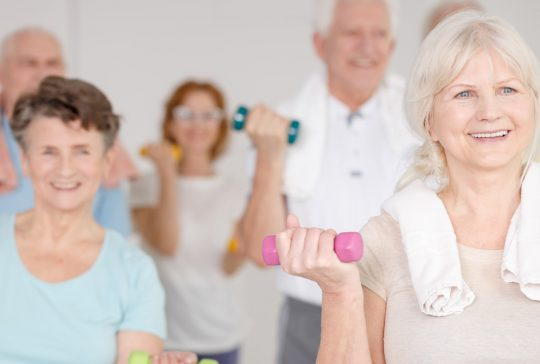 exercise classes keeping fit elderly