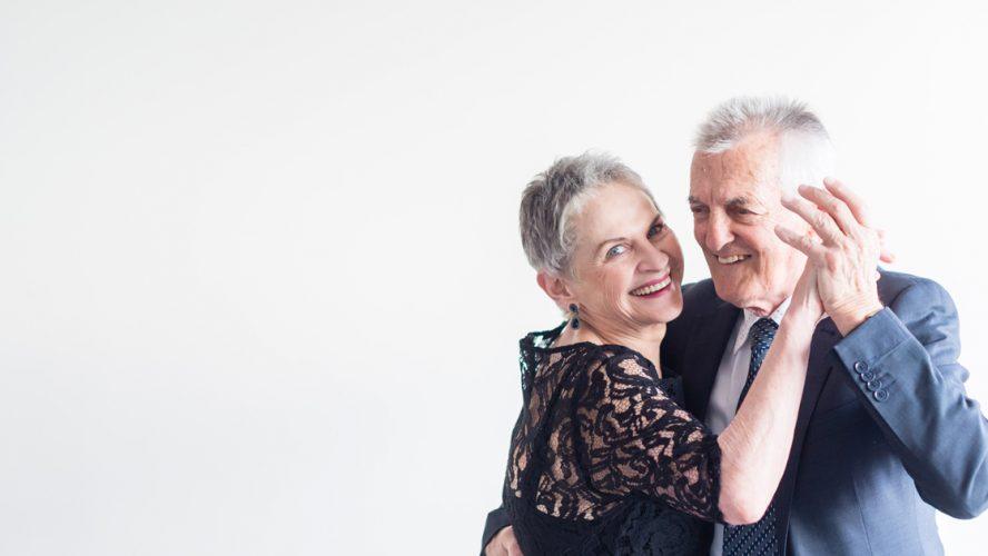 dancing active moving elderly