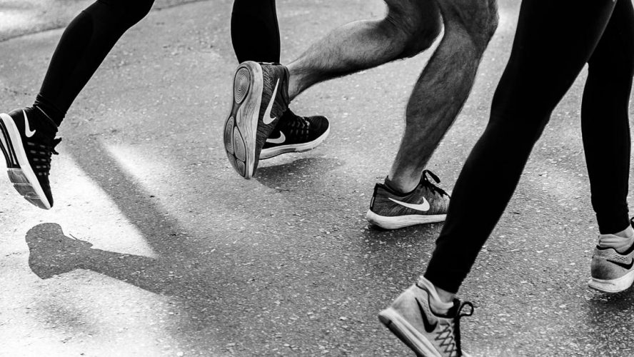 skeleton knees running