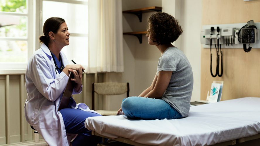doctor and patient talking