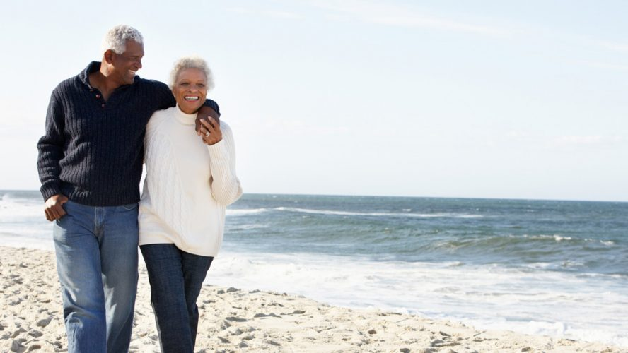 couple walking beach incontinence urology