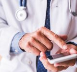 doctor on phone mobile social media