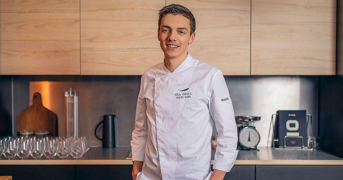 Mallory Gabsi, cuisinier et candidat de l'émission Top Chef 2020.