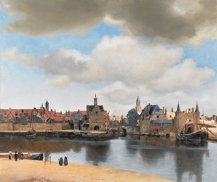 Johannes Vermeer - Gezicht op Delft, c. 1660-1661 - Mauritshuis, Den Haag