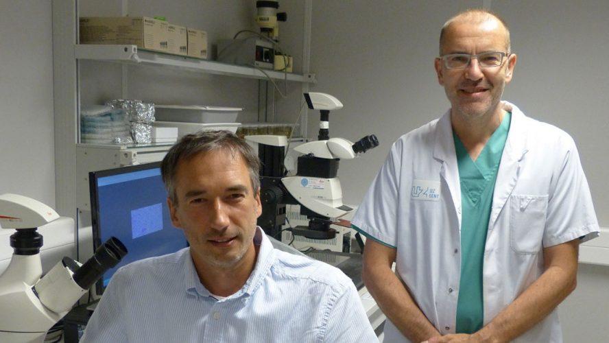 Prof. Olivier De Wever en prof. Wim Ceelen van het CRIG.
