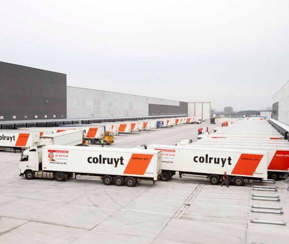 Colruyt transport trucks