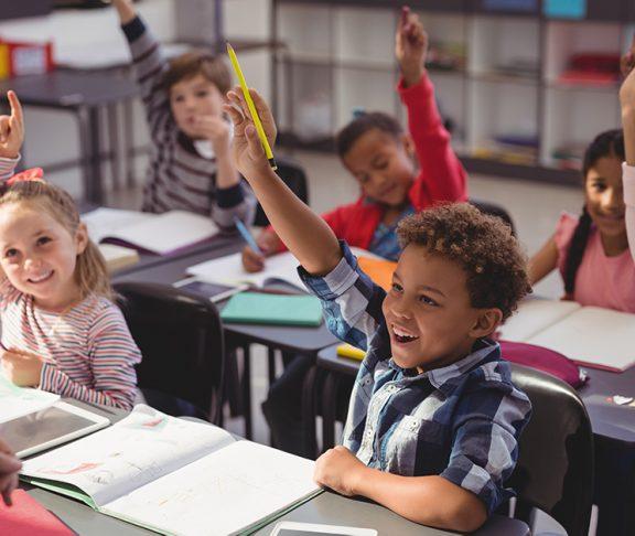 Børn i klasseværelse