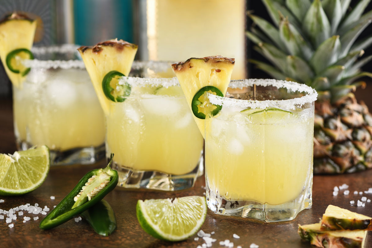 Ananas-tequila cooler