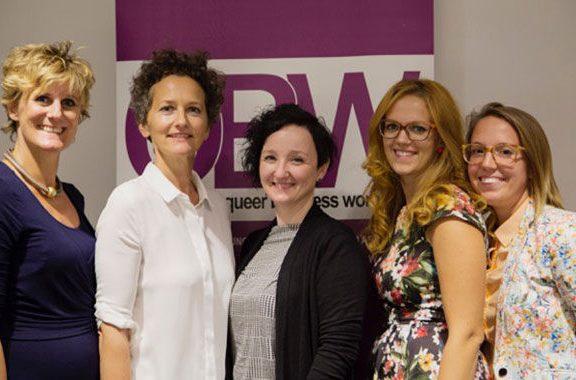 QBW Frauen Sept16: Strahlende QBW Frauen - Vereinsarbeit macht Spass.