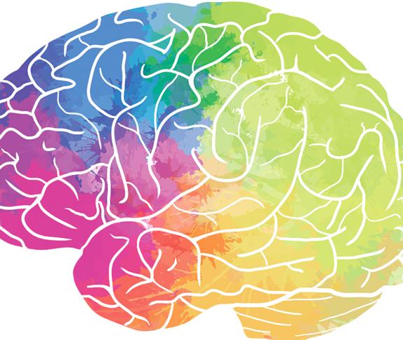 Tegnet hjerne i forskellige farver symbolisere sygdommen CTX