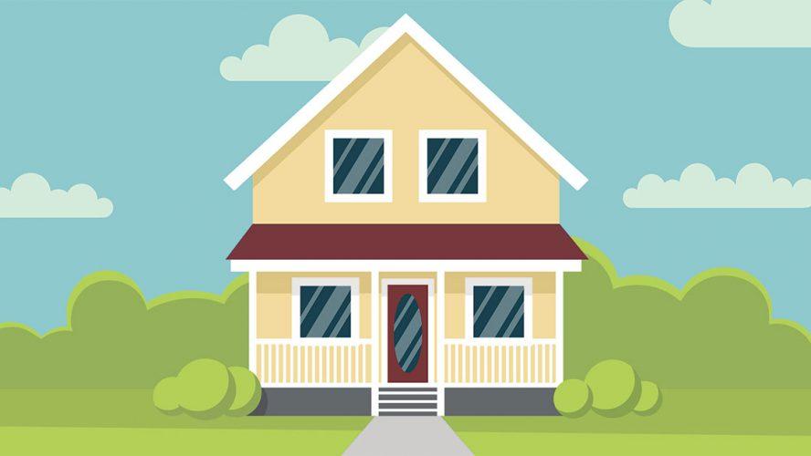 Illustration af hus