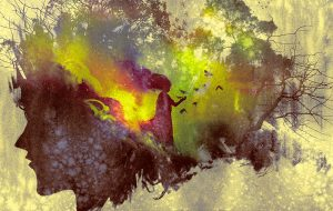 Abstrakt akvarel