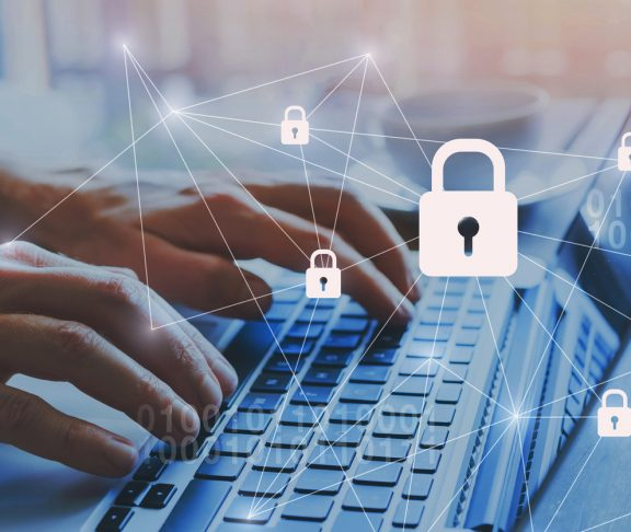 internet security and data protection concept, blockchain and cybersecurity