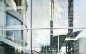 Abstract Glass Facade of Modern Office Building