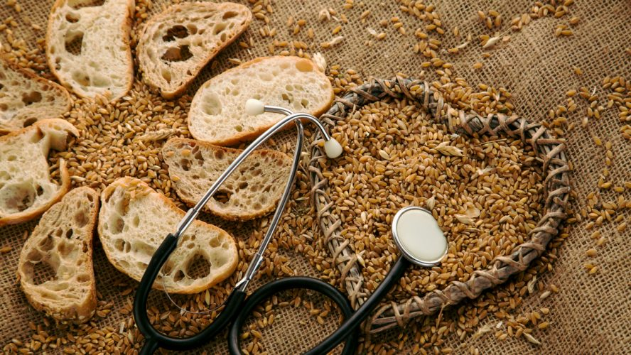 Traditional round rye bread, homemade vegetarian organic food. Gluten free bread for people who got allergy.