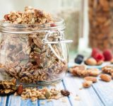 Chunky Nutty Granola for Healthy Snacks & Breakfast