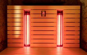 The infrared sauna to improve the health and beauty
