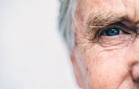 Portrait of a senior man outdoors, Slovenia, Europe. Nikon D850.