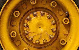 ett gult däck