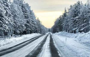 Vinterväg.