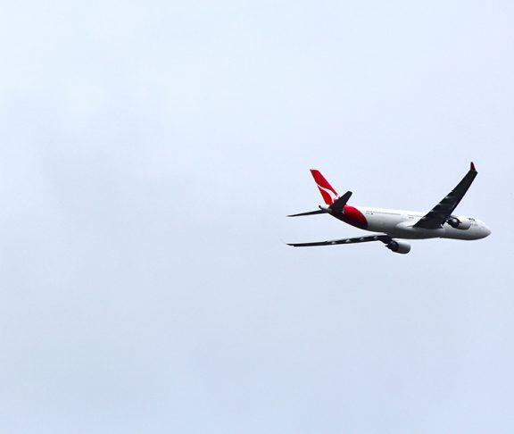 Vliegtuig in de lucht