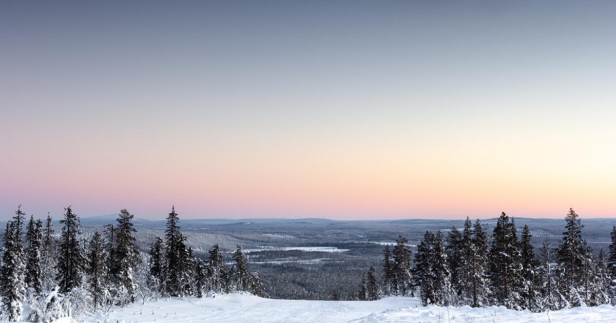 Landschap van Lapland