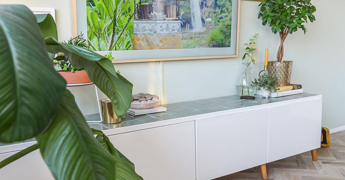 Tv Kast Groen.Doe Het Zelf Ikea Hack Tv Kast Met Groene Zellige Tegels