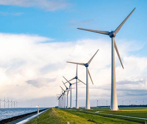 Windmolens voor schone energie