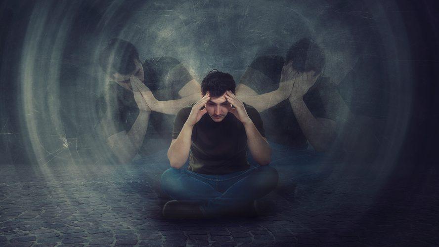 Man met schizofrenie