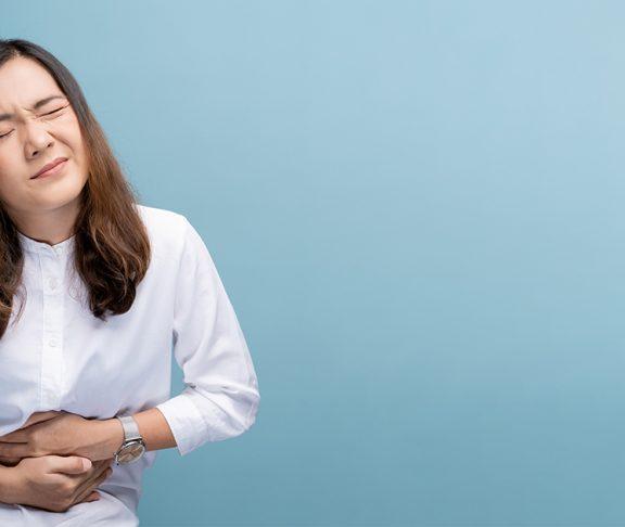 Vrouw met darmklachten