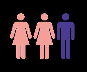 Twee vrouwen en man