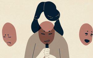 Illustratie vrouw met verschillende