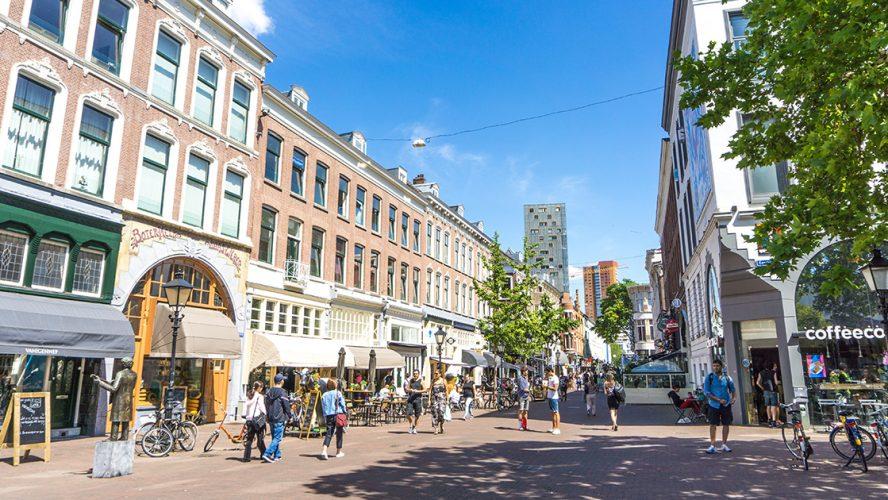 Nederlandse winkelstraat